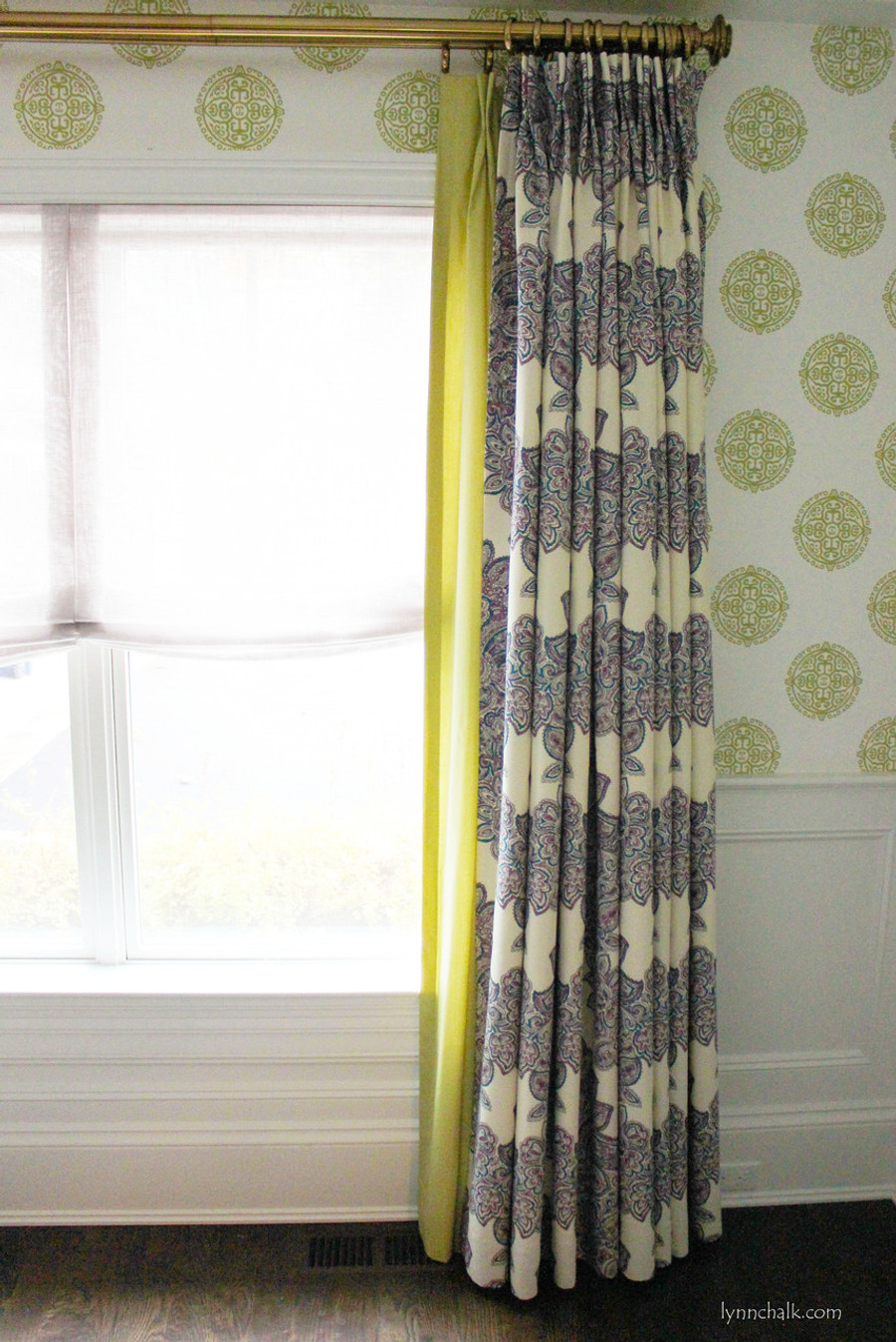 2nd Layer Of Drapes In Fabricut Classic Chintz Duralee Maris Custom Dining Room