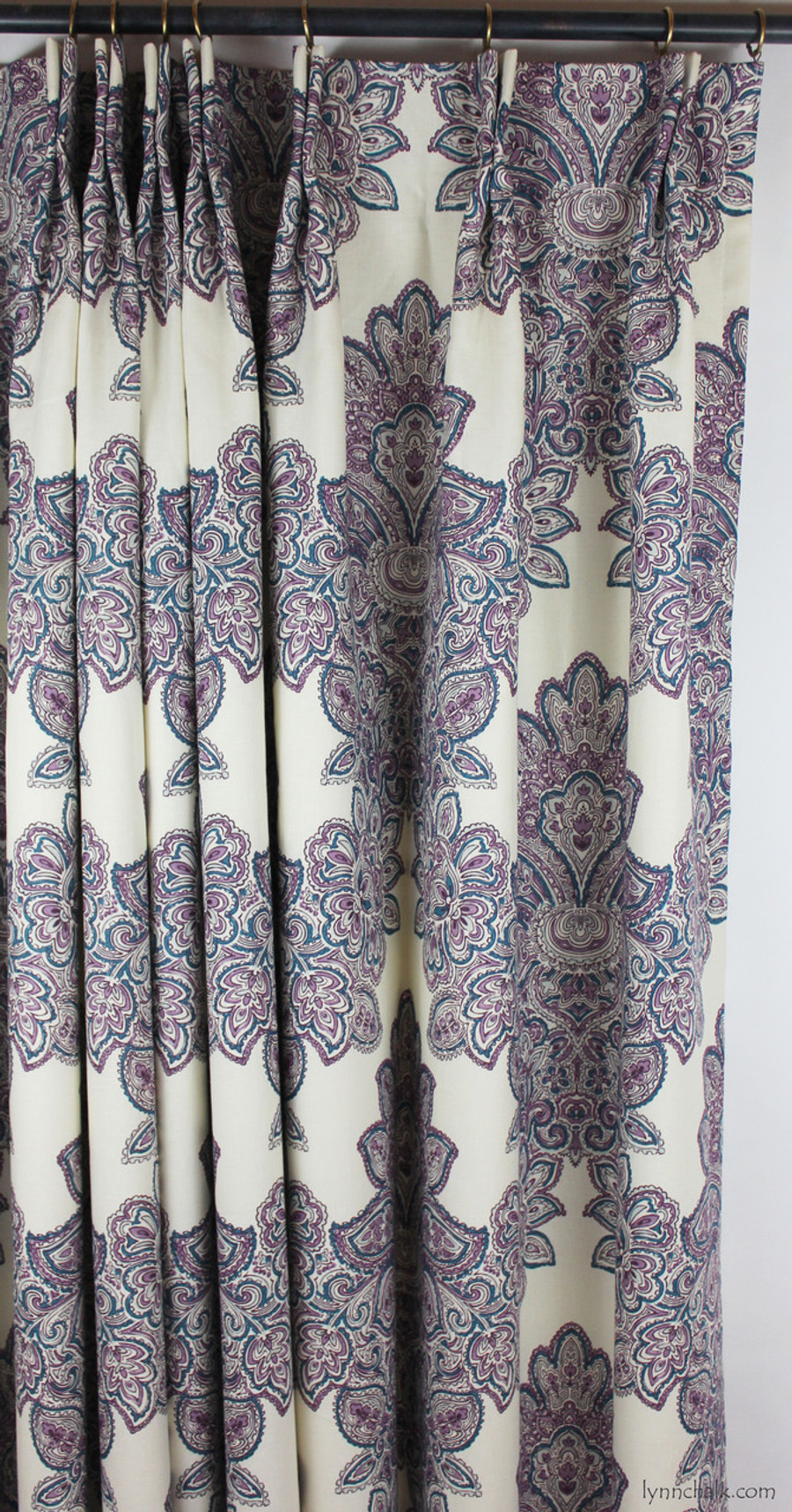 Duralee Maris Custom Dining Room Drapes Shown In Currant Also Comes Rose