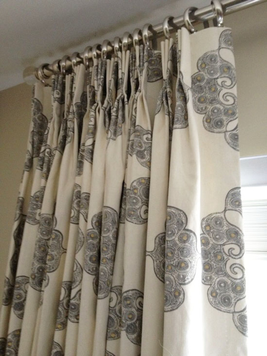 Drapes in John Robshaw Kinva in Grey