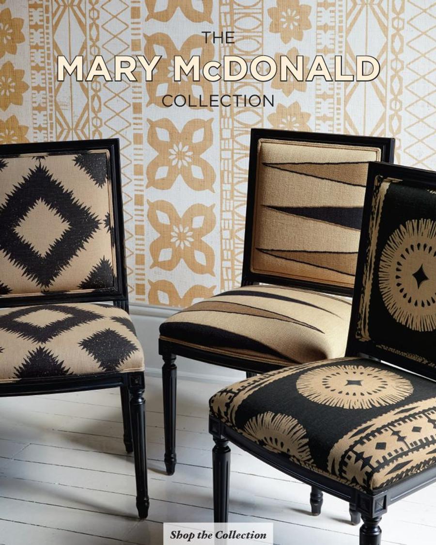 Chairs in Moorea Lava Black, Puka Diamond Black Sand and Bora Bora Print Lava Black