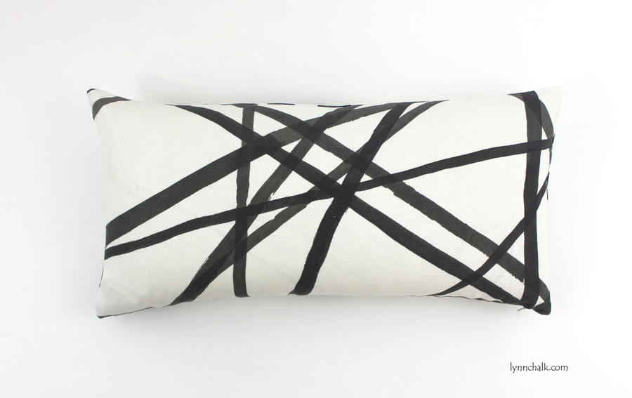 ON SALE Kelly Wearstler Channels Ebony/Ivory Pillow 12 X 20 (only 2 available at sale price)