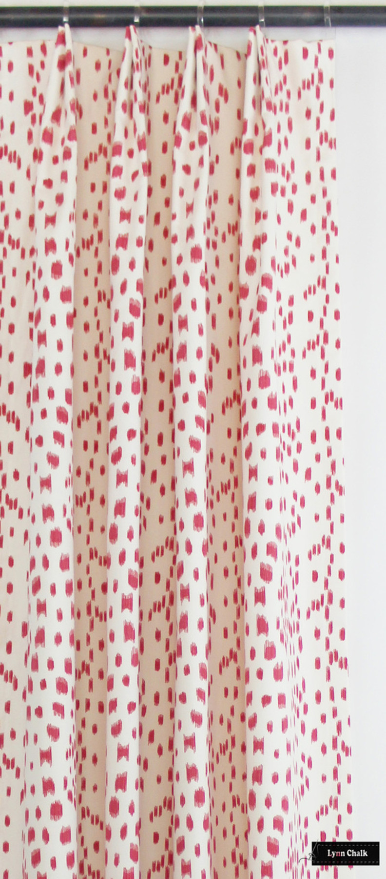 Custom Drapes by Lynn Chalk in Les Touches in Pink