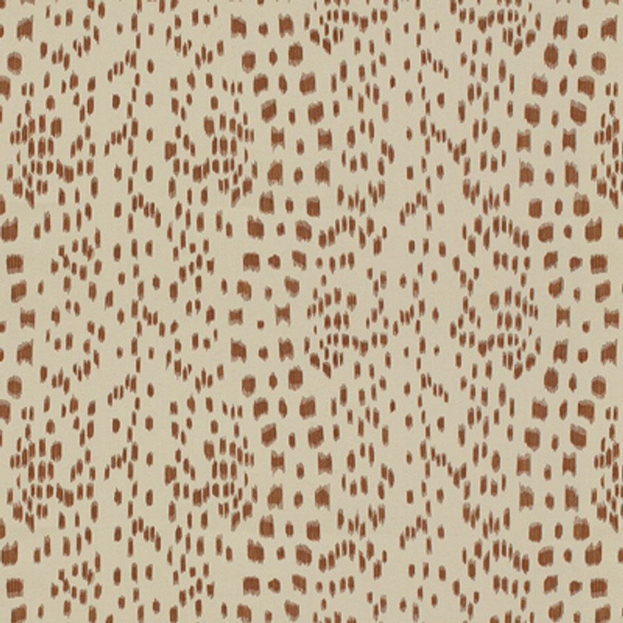 Les Touches in Brown (comes in fabric and wallpaper)