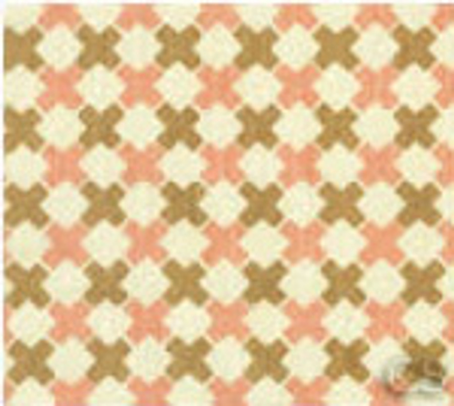 Double Cross Check Pink/Brown on Tint 4120-02