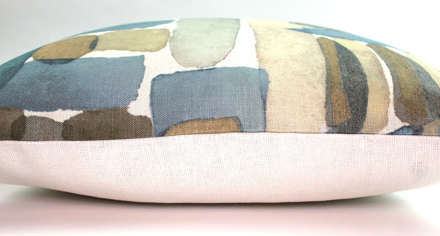ON SALE Groundworks Moriyama Custom Pillows in Dusk with Natural Linen Back (only 1 Remaining)