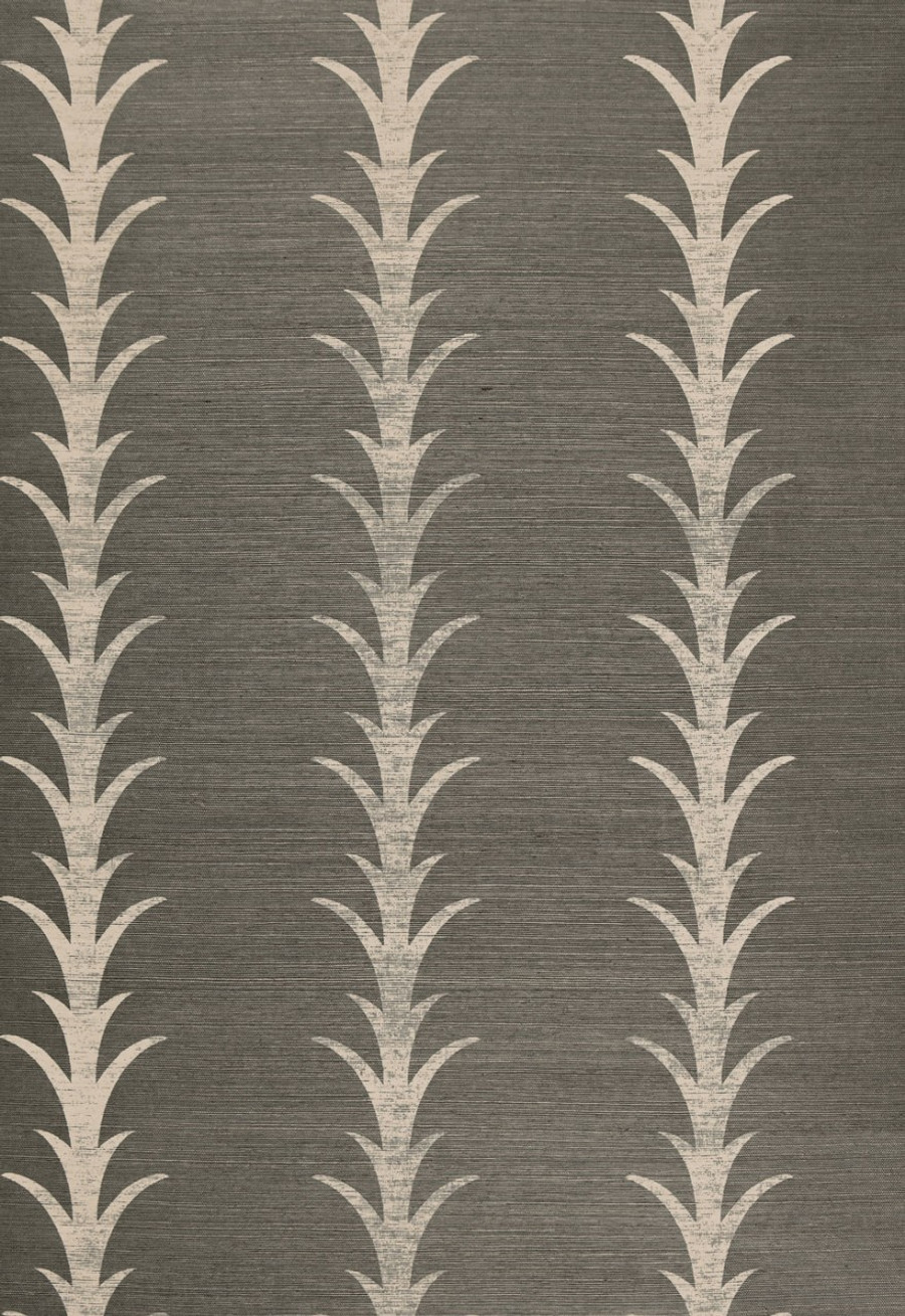 Celerie Kemble Acanthus Stripe Haze Wallpaper