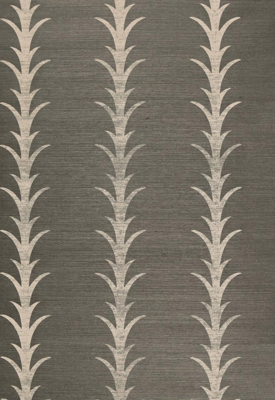 Celerie Kemble Acanthus Stripe Chambray Wallpaper