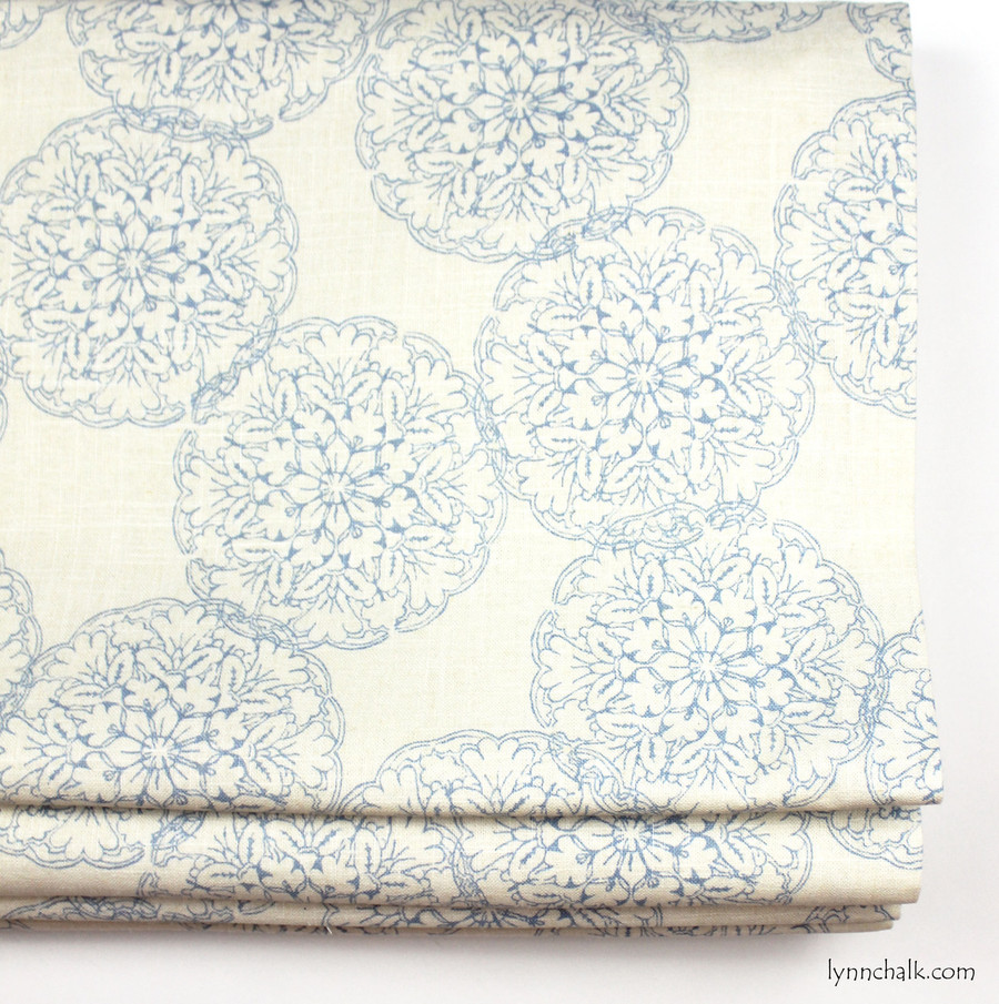 Custom Roman Shade by Lynn Chalk in Danda Light Blue