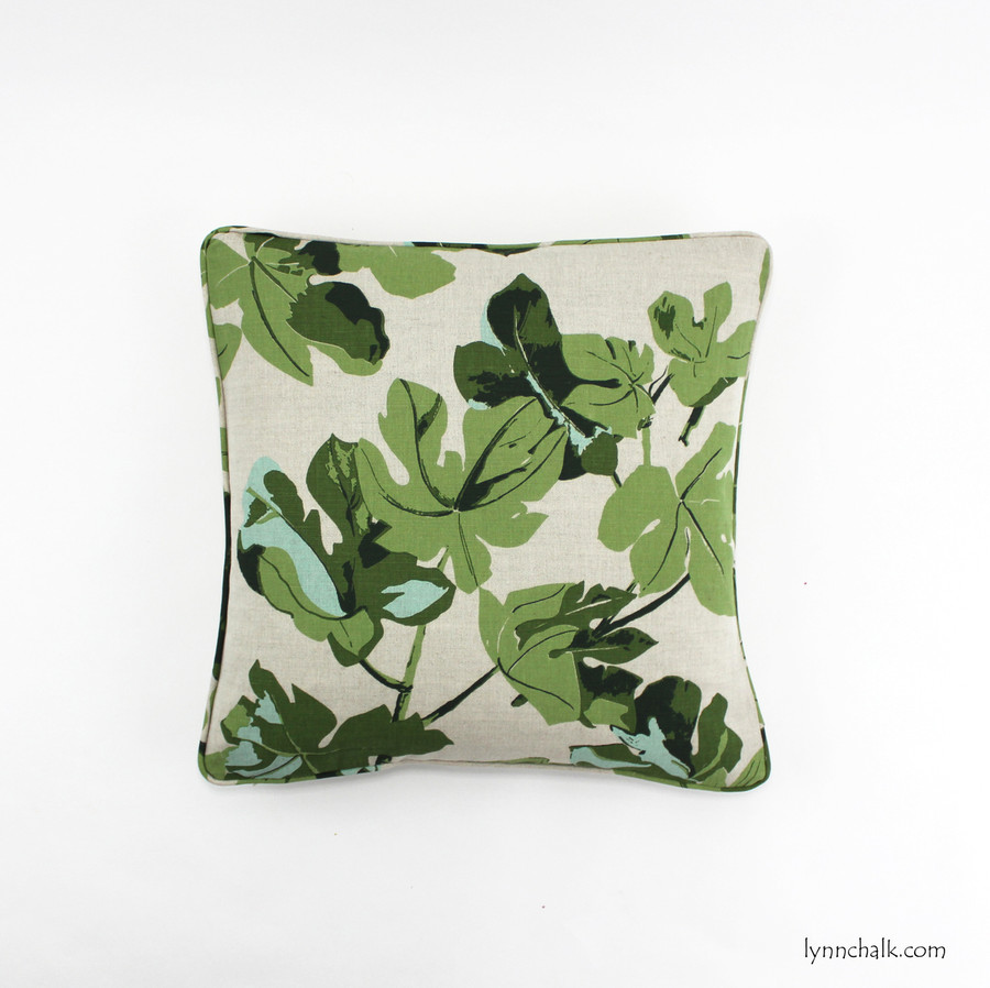 Pillow in Peter Dunham Fig Leaf on Natural