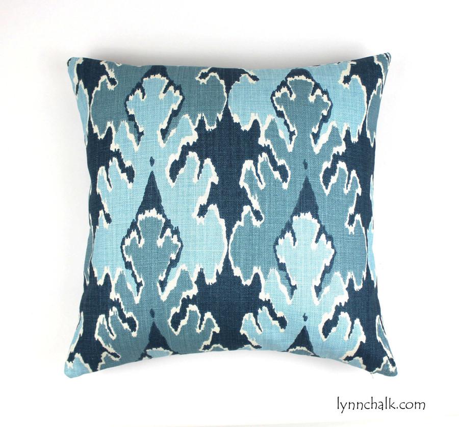 Custom Pillow by Lynn Chalk in Kelly Wearstler Bengal Bazaar in Teal (20 X 20)