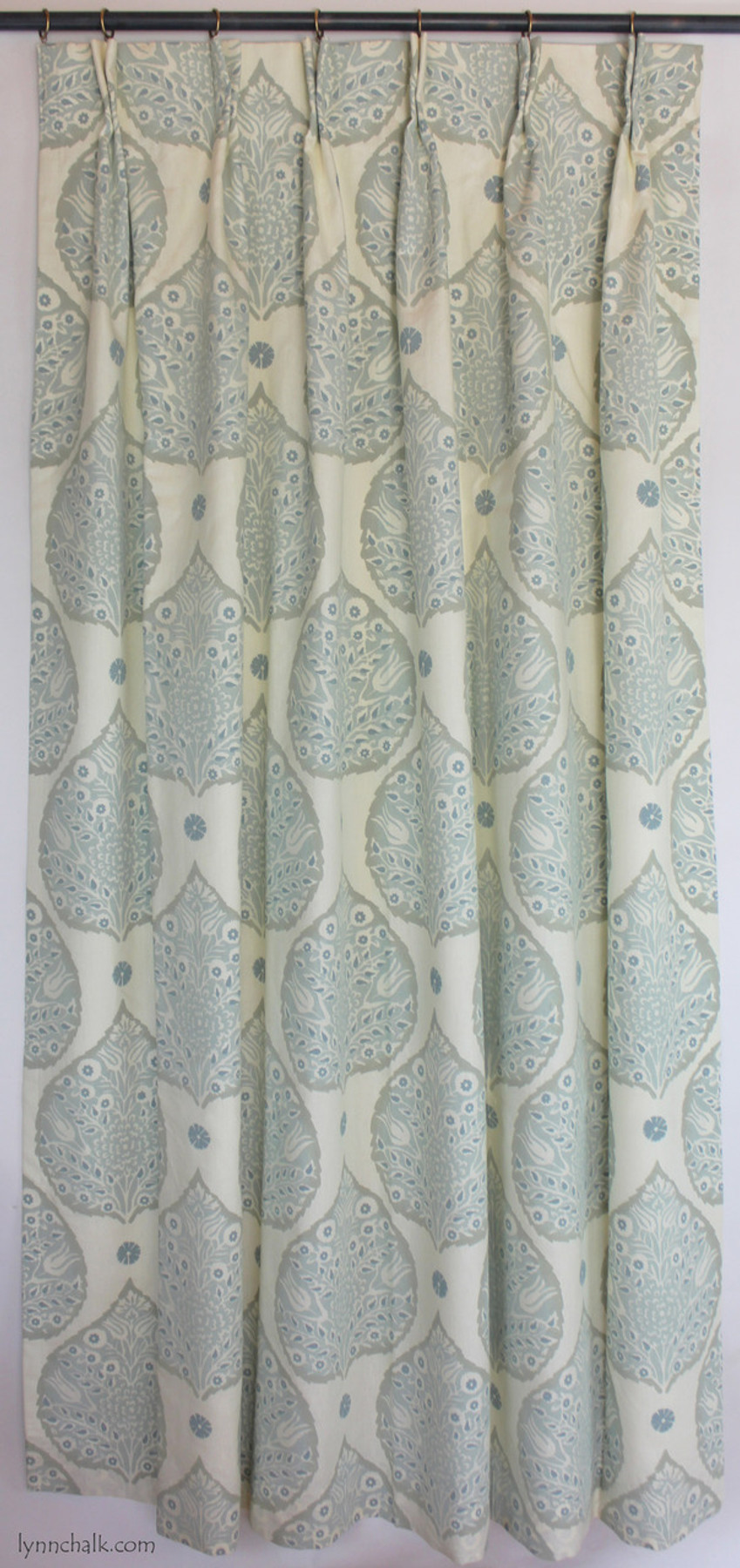 Galbraith & Paul Roman Shades in Lotus in Cadet (Dana Wolter Interiors-Traditional Home)