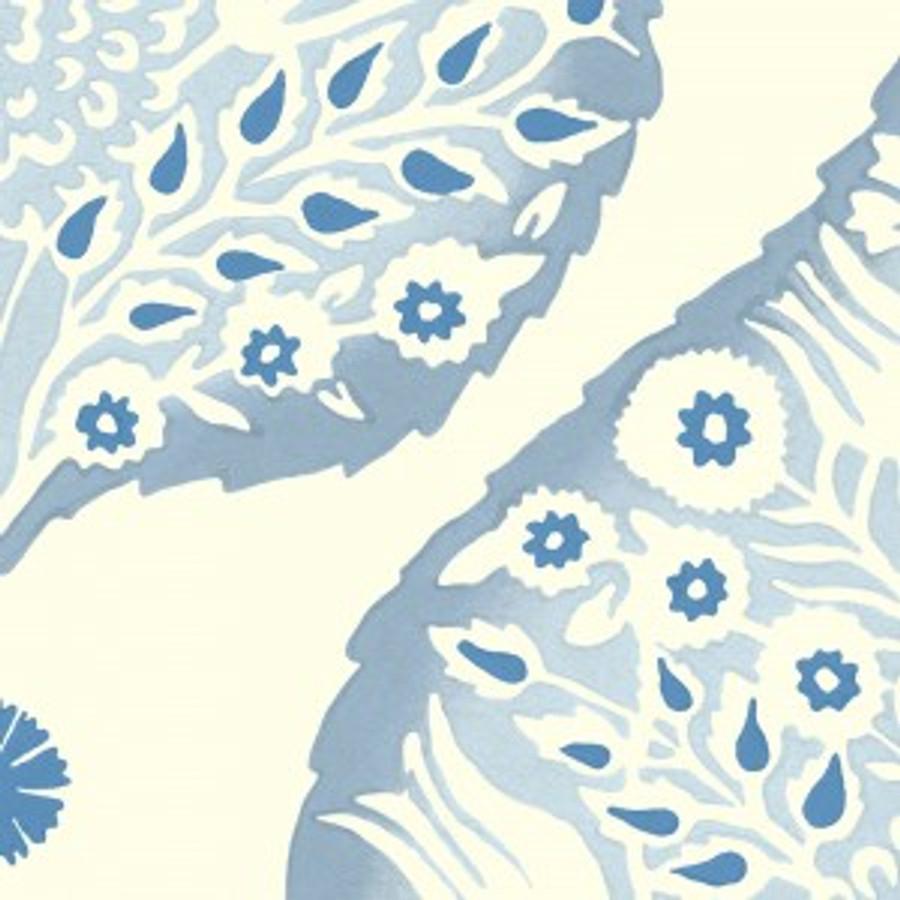 Lotus Wallpaper Denim