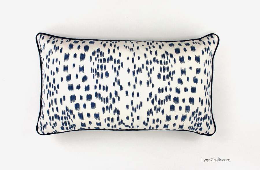 Les Touches in Blue with contrasting Navy Welting (14 X 24)