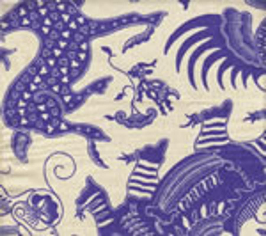 Indramayu French Blue on Cream 103-210