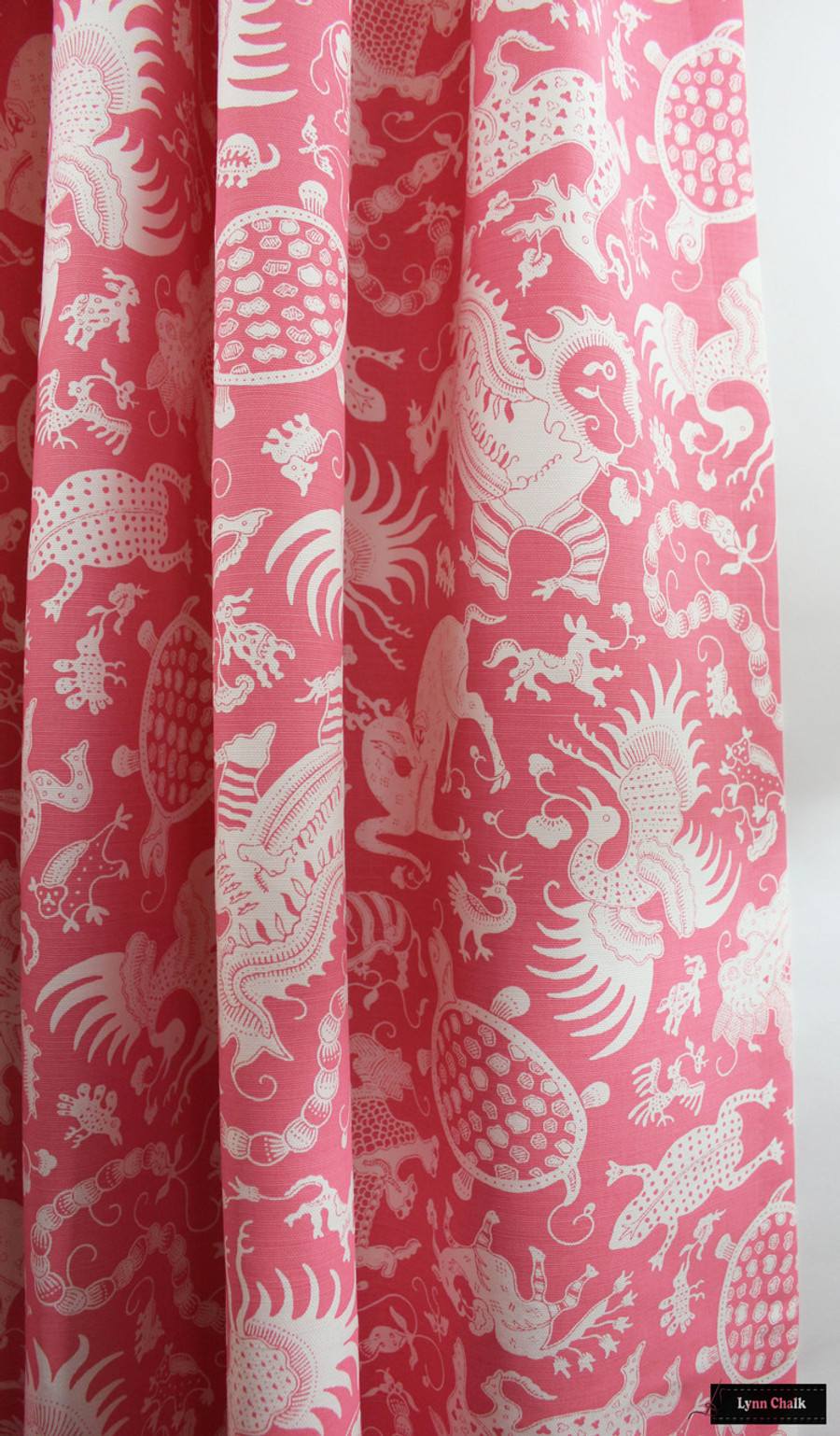 Drapes in Indramayu Reverse Dark Pink on White