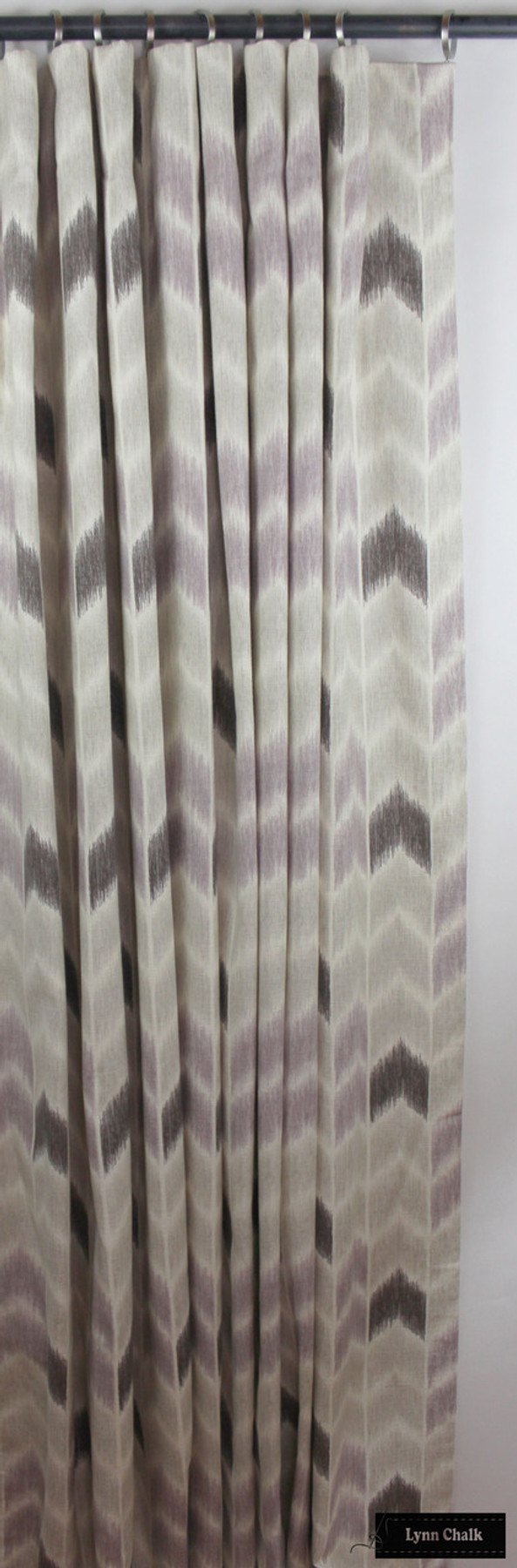 Custom Drapes in Fabricut Noho Lavender