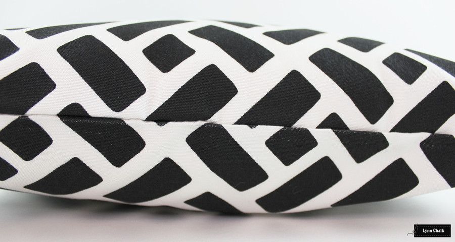ON SALE Quadrille China Seas Edo Grande Pillows in Black on White Suncloth (18 X 18-Both Sides) Only 2 Remaining at this Sale Price