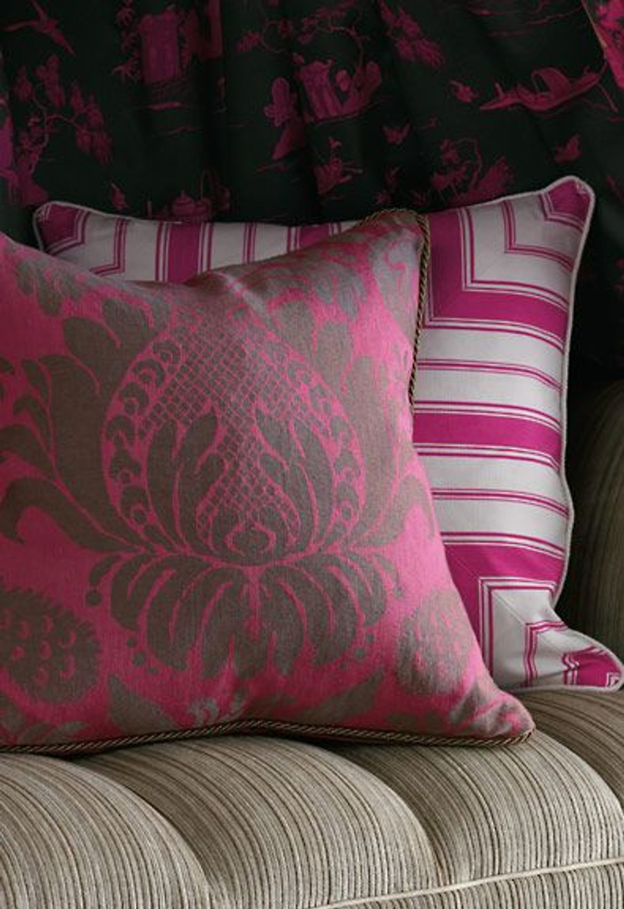 Alessandra Branca For Schumacher Branca Stripe Pillows (shown in Noir-comes in 5 colors)