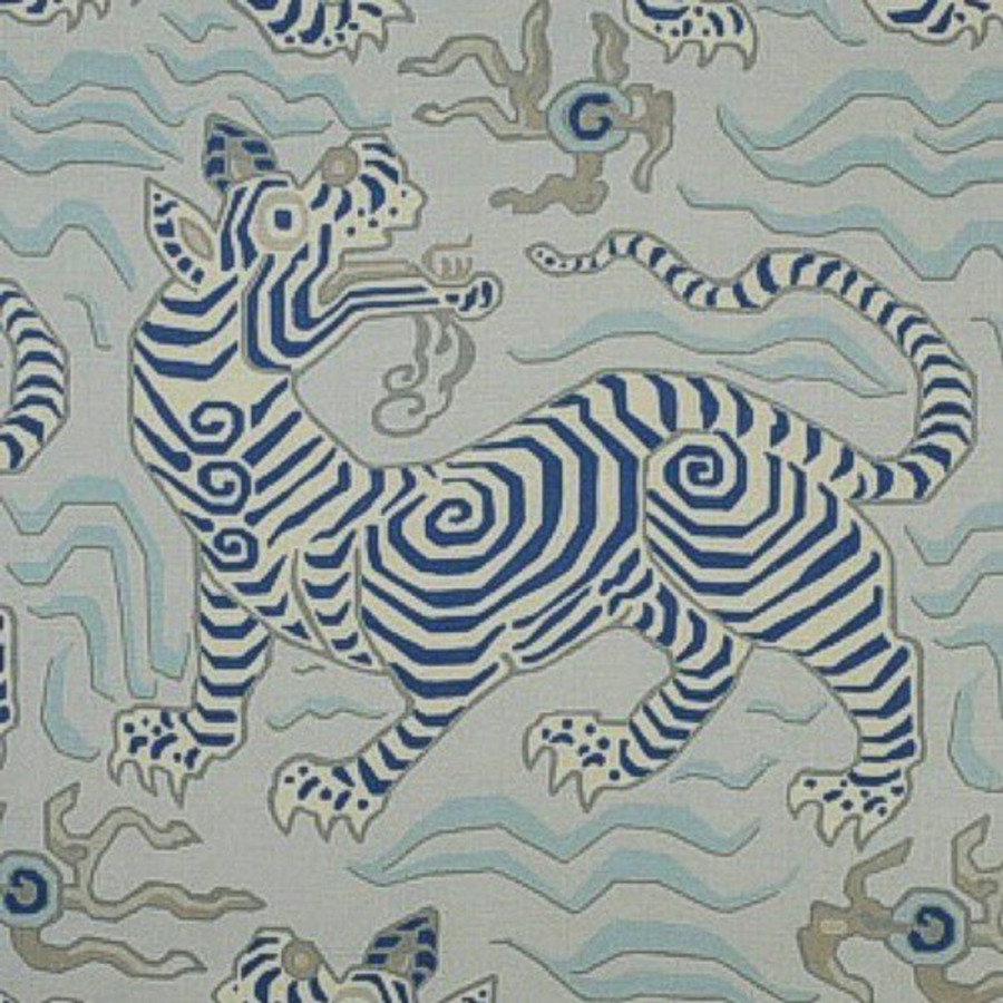 Clarence House Tibet Pale Blue 34706-1