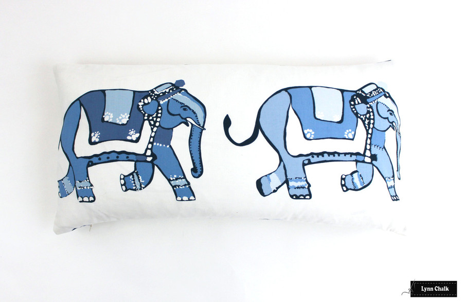 ON SALE Lulu DK for Schumacher Parade 12 X 24 Pillow (Only 1 Remaining at this Sale Price)