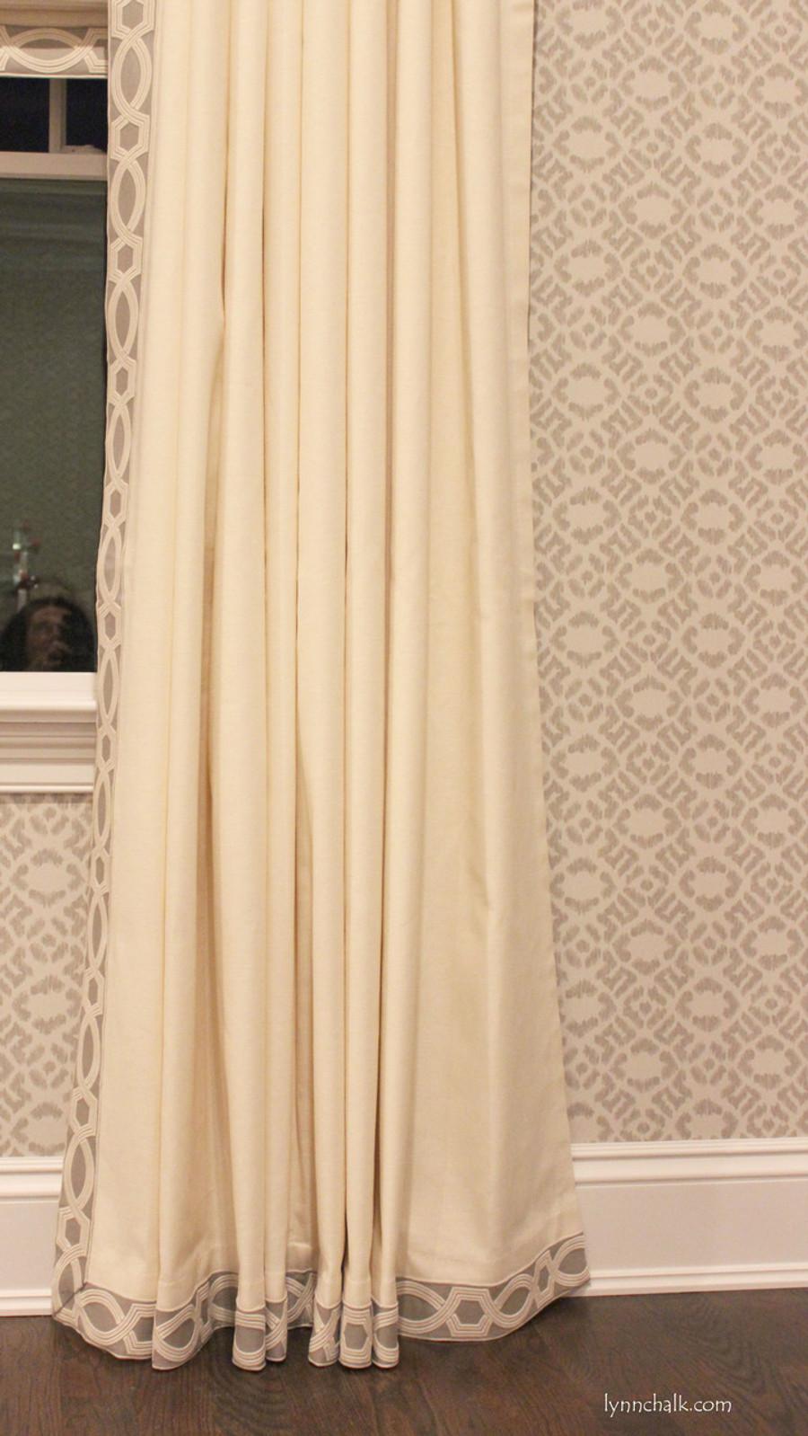 Trend Linen/Cotton 01838T Roman Shades in Triple Window