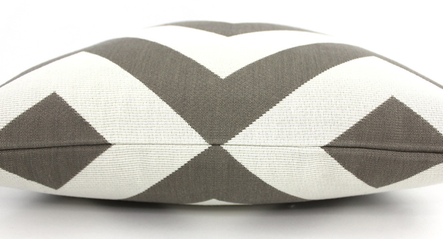 Schumacher Antibes Chevron Custom Indoor/Outdoor Pillows (shown in Driftwood-comes in 4 colors)