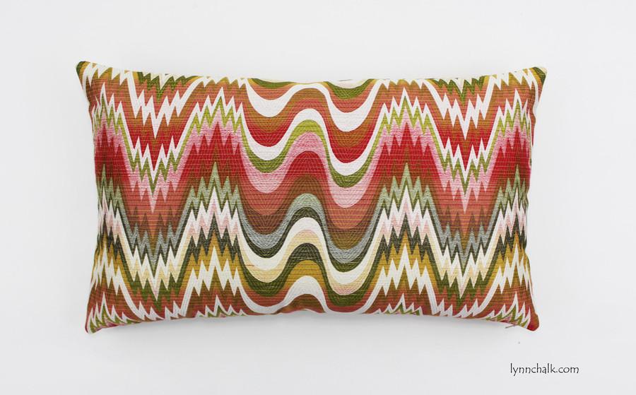 Custom Pillow by in Acid Palm Watermelon (14 X 24)