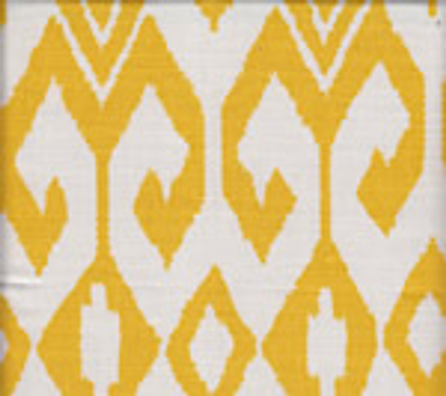 Quadrille Alan Campbell Aqua II 7230-02 Yellow on White