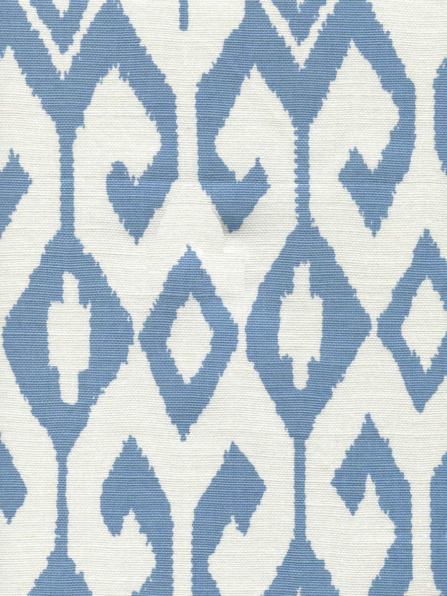Quadrille Alan Campbell Aqua II 7230-08 French Blue on White