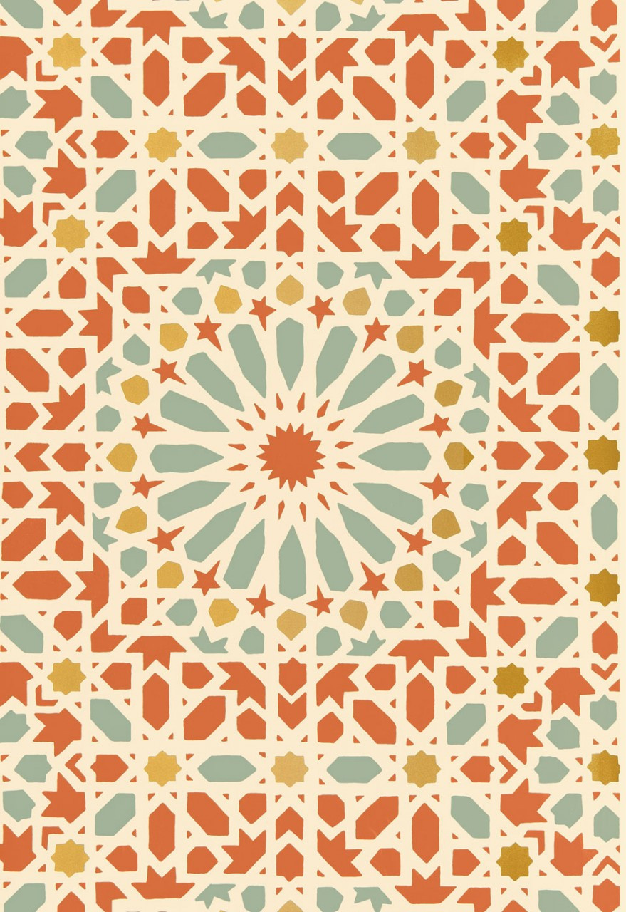 schumacher wallpaper nasrid palace mosaic wallcovering