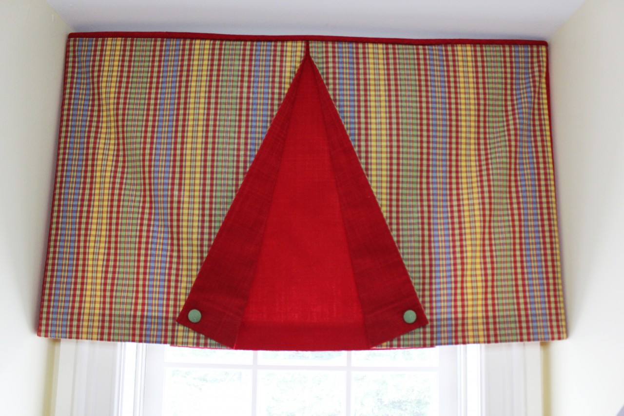 Box Pleat Window Valance Pattern Box Pleated Valance Button