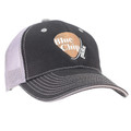 Black Baseball Cap with Gray Mesh