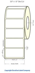 "Primera LX400 2""x1"" High-Gloss Labels | 74704"
