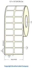 Epson TM-C3400 1.5 x 1 Matte Polypropylene Labels | Epson Media |Epson Labels | 814008