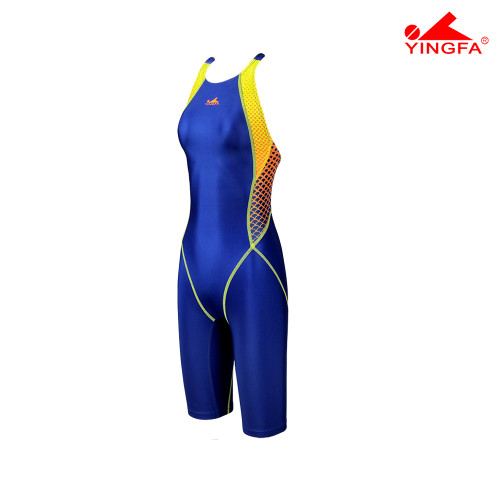 YINGFA YF943-3 NEW E TANCHE TECHNICAL WOMEN'S KNEE SUITS - BLUE/YELLOW