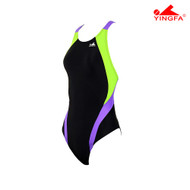 Yingfa 976-1 Aquaskin Costume Women's Swimsuits - Black/Green/Purple