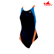 Yingfa 976-4 Aquaskin Costume Women's Swimsuits - Black/Blue/Orange