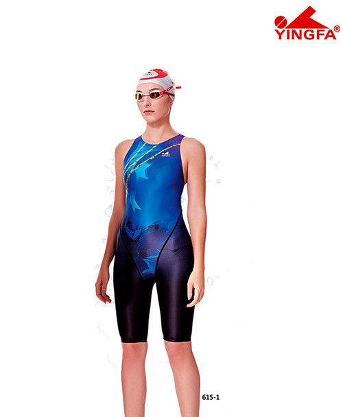 Yingfa 615-1 Blue Technical Race-skin Swimsuits
