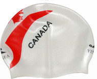 Canada Flag Competition Swim Caps