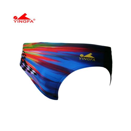 Yingfa 9302-1 Sharkskin Raching Briefs - Blue/Multi