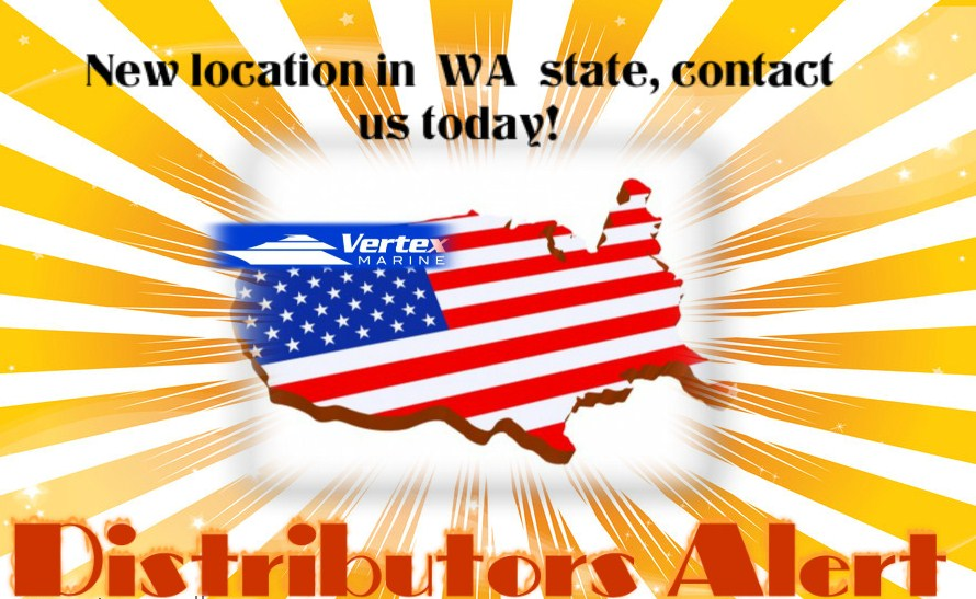 Advertisement for the new Vertex Marine location in Washington state