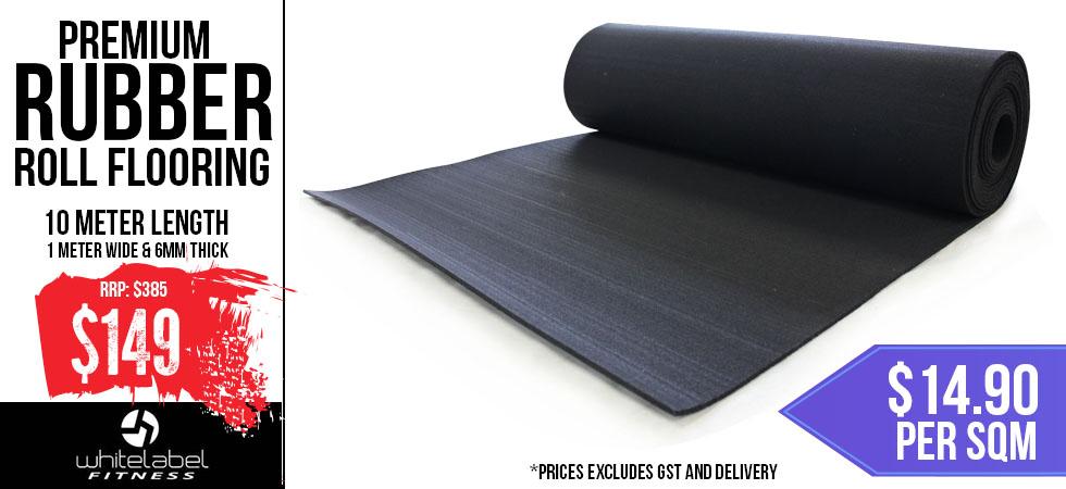 10M Premium Rubber Roll Flooring - $149 +gst
