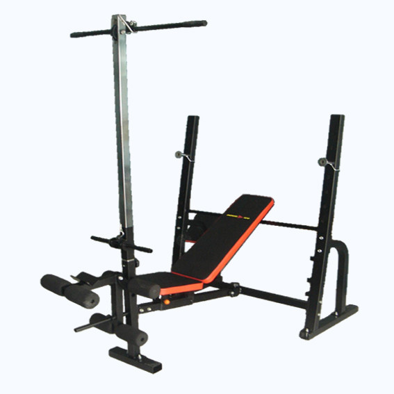Adjustable Bench Press With Preacher Curl Leg Extension