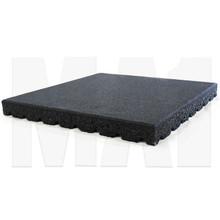 MA1 Rubber Tile - 50mm x 50cm x 50cm, Black