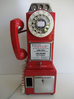 AE 3 slot  Payphone  RED and CHROME