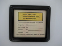 Middle direction sign Automatic Electric  Black