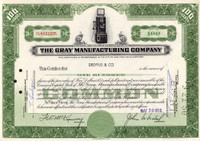 Gray  Stock Certificate  For Display