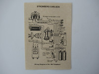 Stromberg Carlson Wood telephone Diagram Glue On
