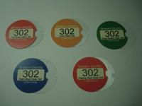 Colored 302 deskset number card set