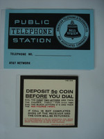 3 slot Payphone instruction card set